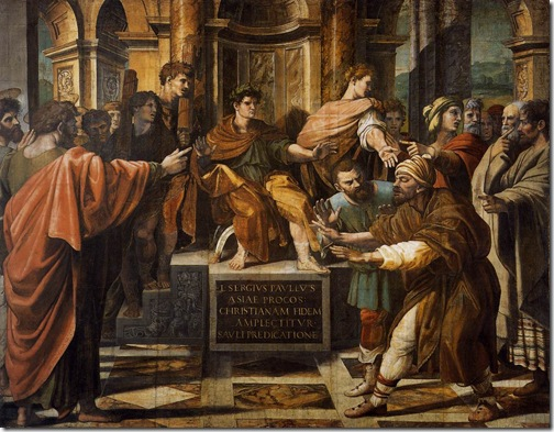 St. Paul before the Proconsul, c. 1515, Raphael
