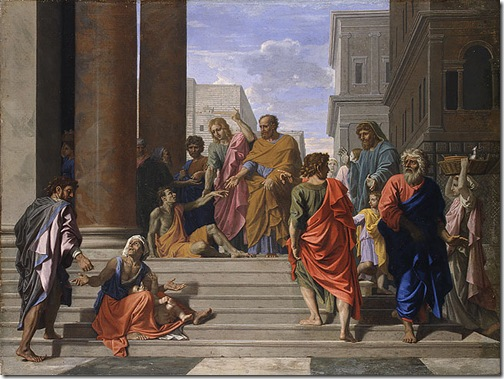 Saints Peter and John Healing the Lame Man, 1655, Nicolas Poussin