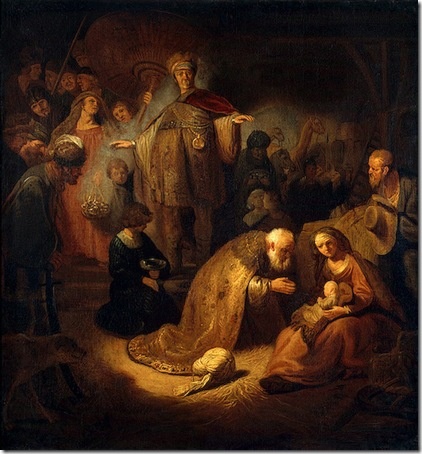 Adoration of the Magi, 1632, Rembrandt van Rijn