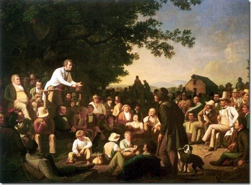 Stump Speaking, 1853-54, George Caleb Bingham