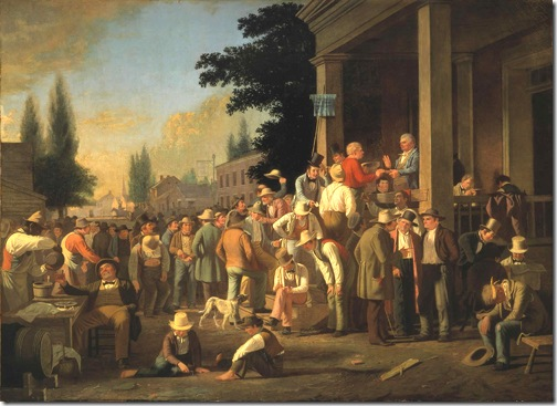 The County Election, 1851­-52, George Caleb Bingham