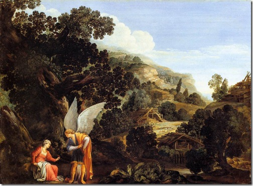 An Angel Appearing to the Wife of Manoah, c. 1610, Carlo Saraceni
