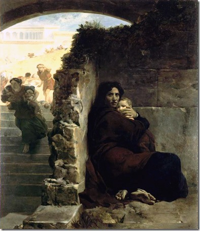 """Scene of the massacre of the Innocents"" (Scène du massacre des Innocents), 1824, Léon Cogniet"