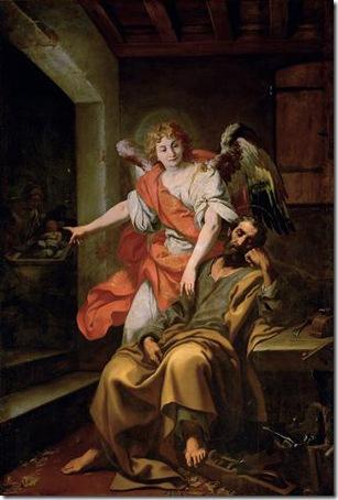 The dream of Saint Joseph (Traum des Hl. Joseph), 1620-30, Daniele Crespi