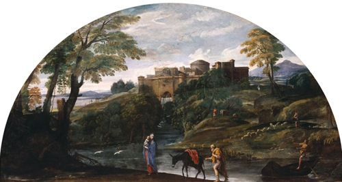 Landscape with the Flight into Egypt, 1603-1604, Annibale Carracci