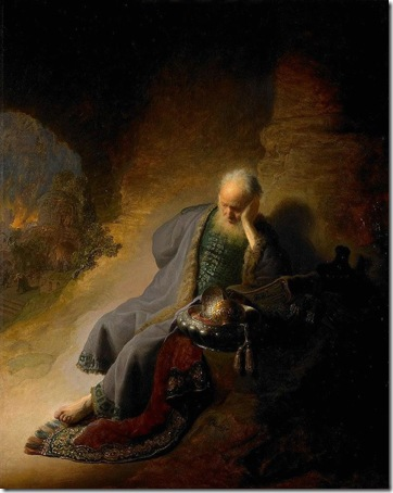 The Prophet Jeremiah Mourning over the Destruction of Jerusalem, 1630, Rembrandt Van Rijn