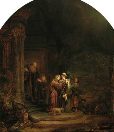 The Visitation, 1640, Rembrandt van Rijn