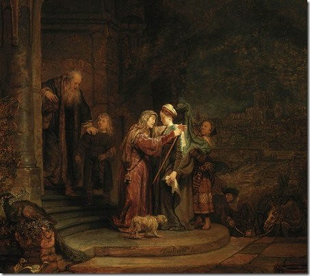 The Visitation, detail, 1640, Rembrandt van Rijn