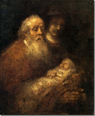 Simeon with the Infant Jesus in the Temple, 1669, Rembrandt van Rijn