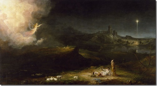 The Angel Appearing to the Shepherds, 1833, Thomas Cole