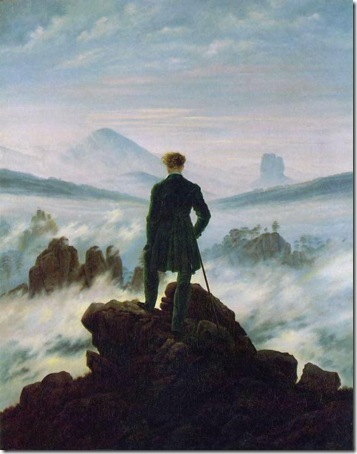 Wanderer above the Sea of Fog, 1818, Caspar David Friedrich