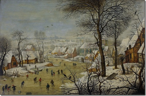 Winter Landscape With A Bird Trap, 1620s, Pieter Bruegel the Younger