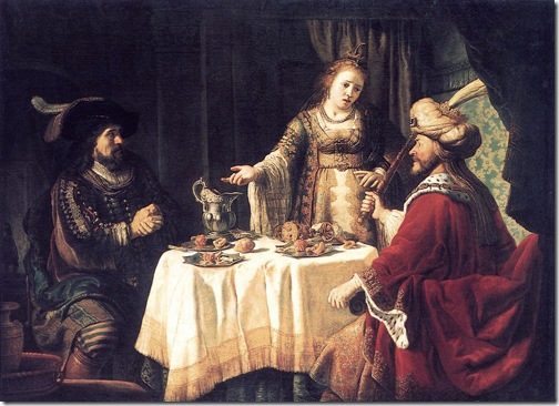 The Banquet of Esther and Ahasuerus, 1640s, Jan Victors