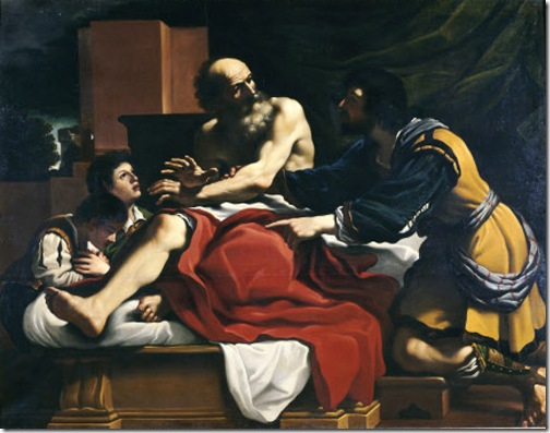 "The Blessing of Joseph's Sons (or ""Jacob and Joseph with his Sons, Ephraim and Manasseh""), 1646- 1808, after Guercino"