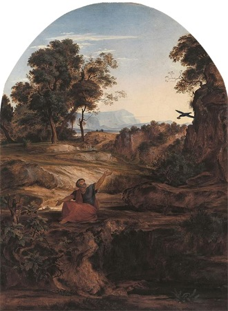 Elijah in the Wilderness, 1831, Johann Heinrich Ferdinand Olivier