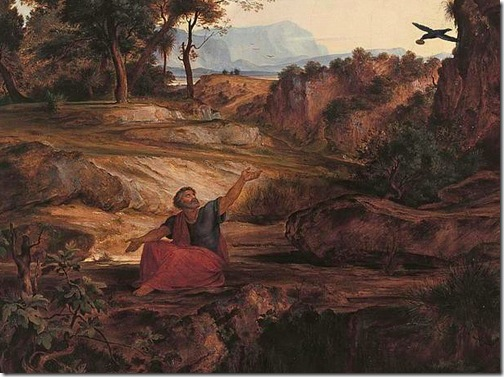 DETAIL: Elijah in the Wilderness, 1831, Johann Heinrich Ferdinand Olivier