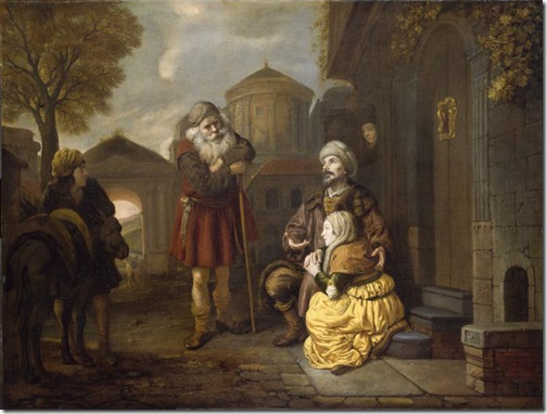 The Levite and his Concubine at Gibeah, c. 1650, Jan Victors