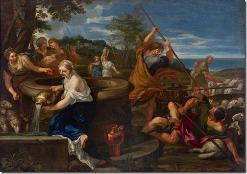 Moisés e as Filhas de Jetro (Moses and the Daughters of Jethro), 1660-89, Ciro Ferri