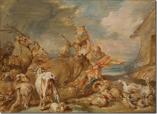 Noah Leading the Animals into the Ark, c. 1655, Giovanni Benedetto Castiglione
