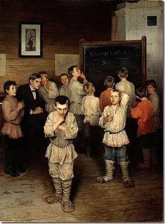 Oral Counting (in the S. A. Rachinsky public school), 1895, Nikolai Bogdanov-Belsky