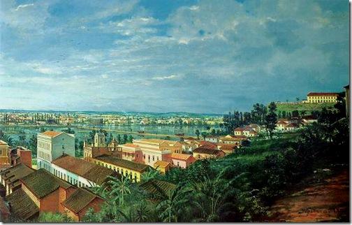 Detalhe: Inundação da Várzea do Carmo, 1892, Benedito Calixto