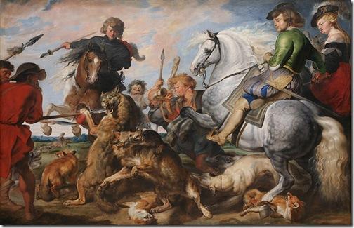 Wolf and Fox Hunt, c. 1615–21, Peter Paul Rubens
