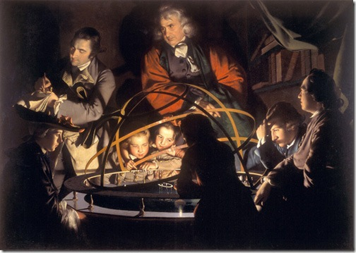 A Philosopher giving that Lecture on the Orrery, 1776, Joseph Wright of Derby
