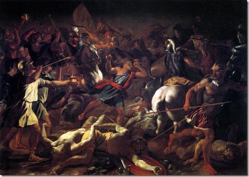 Battle of Gideon Against the Midianites (Bataille de Gédéon contre les Madianites), 1625-1626, Nicolas Poussin