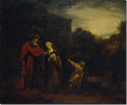 Banishment of Hagar and Ishmael, second half of the 17th century, Ferdinand Bol