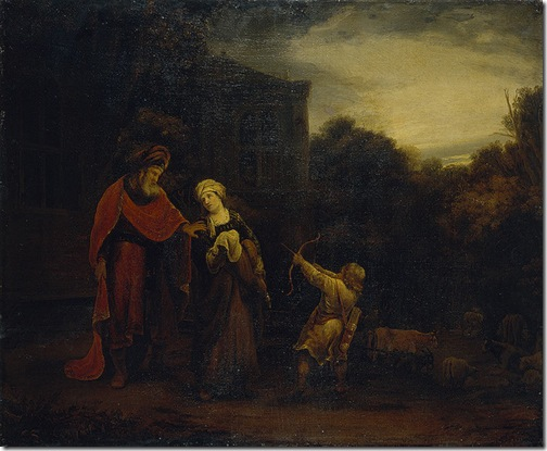 Banishment of Hagar and Ishmael, second half of the 17th century, Ferdinand Bol