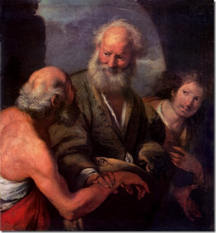 """St. Peter Cures the Lame Beggar"", 17th century, Bernardo Strozzi"