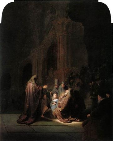 Simeon's song of praise, 1631, Rembrandt van Rijn