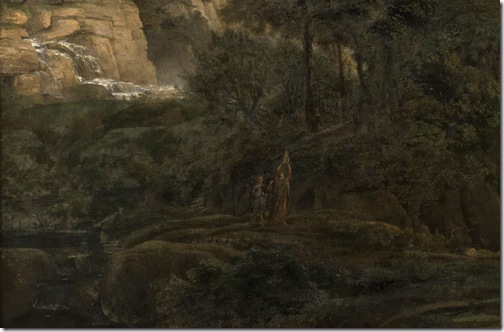 DETAIL: Landscape with the Adoration of the Golden Calf, 1653, Claude Lorrain