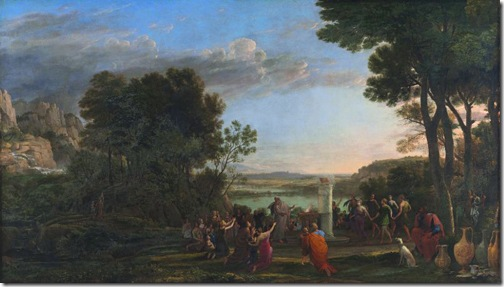 Landscape with the Adoration of the Golden Calf, 1653, Claude Lorrain
