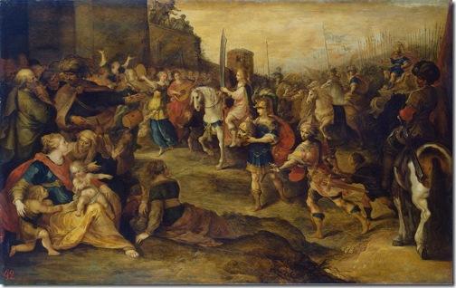 "The Triumph of David (or ""Entry of David into Jerusalem""),  1630s, Frans Francken II"