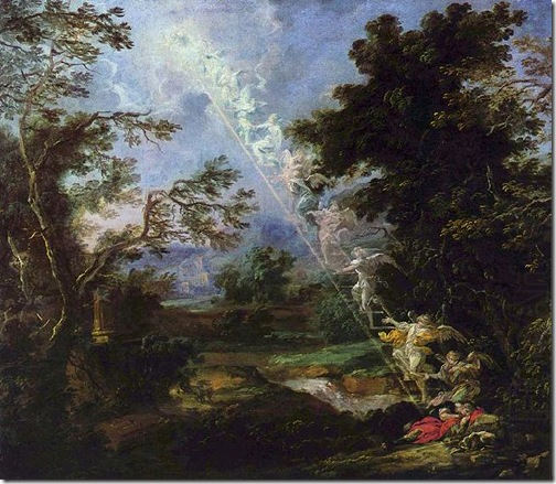 Landscape with the Dream of Jacob (Landschaft mit dem Traum Jakobs), 1691, Michael Willmann