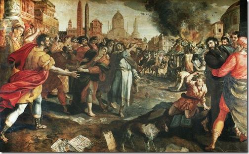 Saint Paul at Ephesus (Saint Paul à Éphèse), 1568, Martin de Vos