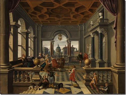The Rich Man and Lazarus (Der reiche Mann und Lazarus), ca. 1620-30, Bartholomeus van Bassen