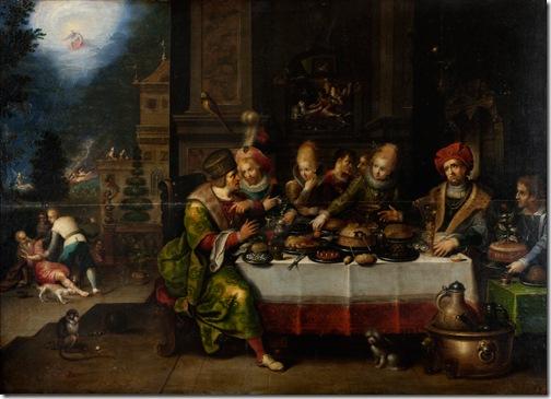 Parable of the Rich and Poor Lazarus (Притча о богатом и бедном Лазаре), Frans Francken II