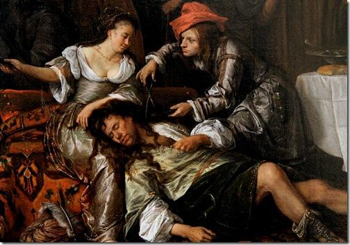 Detail: Samson and Delilah, 1668, Jan Steen