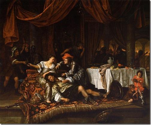 Samson and Delilah, 1668, Jan Steen