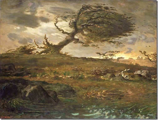 The Gust of Wind, 1871-73, Jean-François Millet