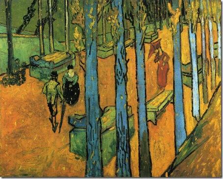 Les Alyscamps (Autumn), 1888, Vincent Van Gogh