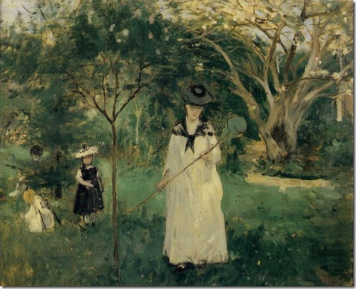 The Butterfly Hunt (Hunting butterflies / La Chasse aux papillons), 1874, Berthe Morisot