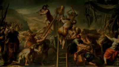 Moses Orders the Calf of Gold Destroyed (Mosè fa distruggere il vitello d'oro / Mosè ordina la distruzione del vitello d'oro), 1682-1685, Andrea Celesti
