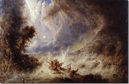 The Commencement of the Deluge, exhibited 1848, William Westall