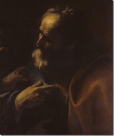 Detail: Denial of Saint Peter (Negazione di San Pietro), 1630-1699, Mattia Preti