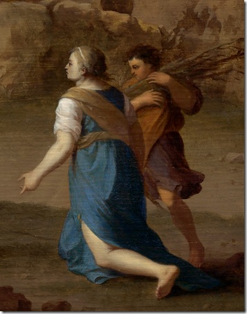 Detail: The Prophet Elijah and the Widow of Zarephath, c. 1630, Cornelis van Poelenburgh