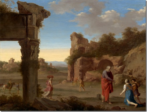 The Prophet Elijah and the Widow of Zarephath, c. 1630, Cornelis van Poelenburgh
