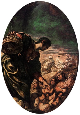 Elisha Multiplies the Bread (Eliseo Moltiplica il Pane), 1577-78, Tintoretto
